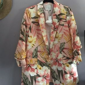 NEW Joie Hawaiian Print Blazer